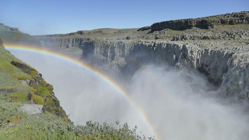 Circuit guidé en Islande, chutes d'eau de Dettifoss en Islande