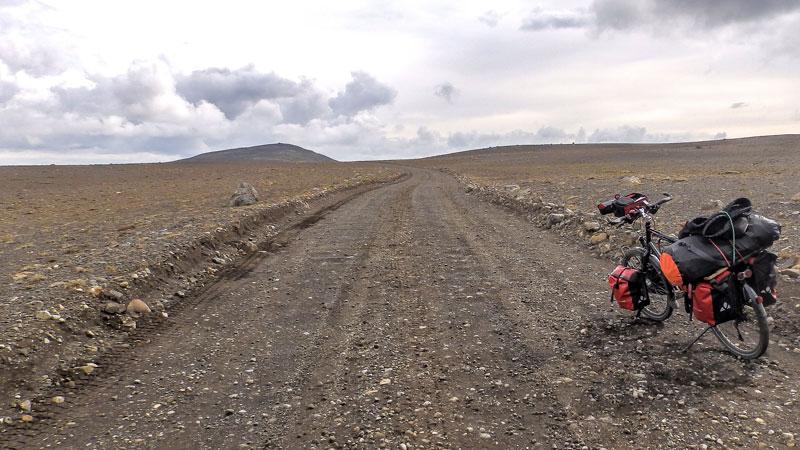 circuit vélo en Islande sur la piste Kjolur