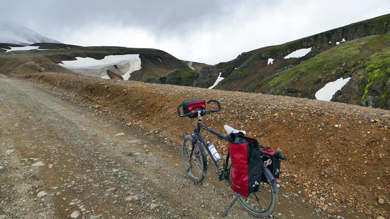 Islande à vélo sur la piste Kjolur, ascension vers le Kerlingarfjoll