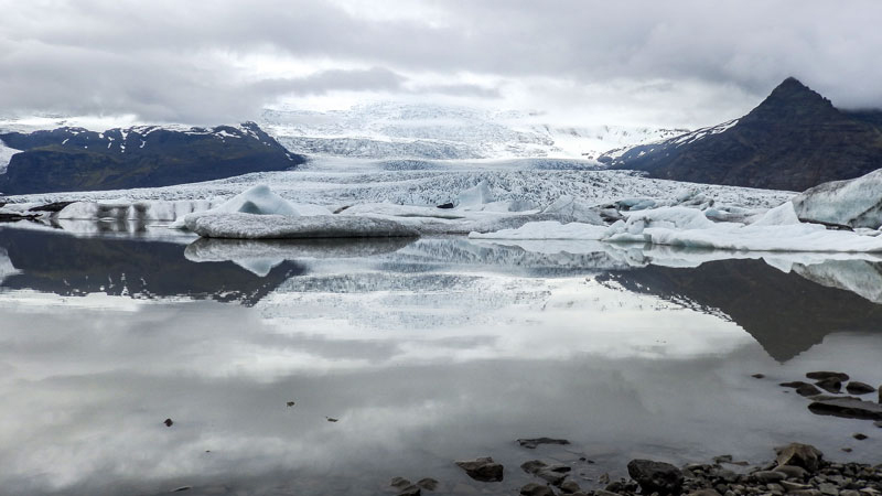 Voyage en Islande dans le sud Est de l'islande, découverrte du lac Fjallsarlon