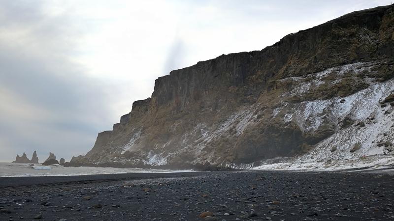 Circuit guidé Islande en hiver, plage de sable volcanique de Vik