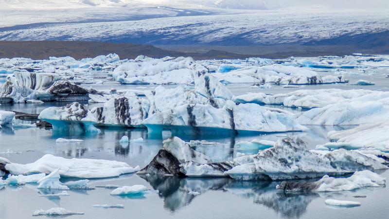 Islande à vélo du Sud jusqu'aux fjords de l'Est , découverte de Jokulsarlon