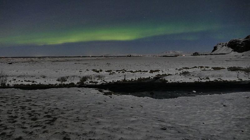 Découverte des aurores boréales en hiver en islande