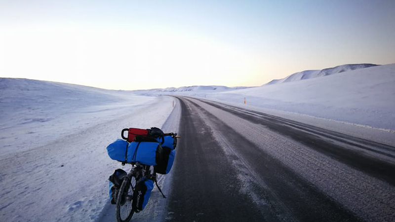 Circuit en Islande à vélo en hiver dans le sud