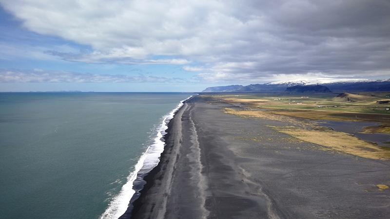 Circuit Islande,, visite des plages de sables volcanique de Vik