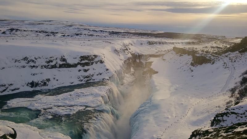 circuit en Islande en hiver, découverte du site de Gulfoss