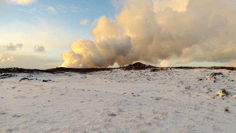 Découverte de Gunnuhver, en Islande à vélo en hiver