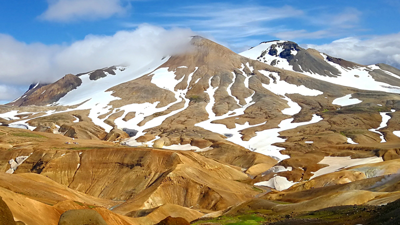 Randonnée en circuit Islande dans les montagnes de Kerlingarfjoll